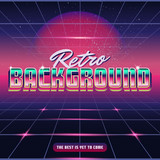 New Retro Wave Background  Synthwave Retro Design And Elements