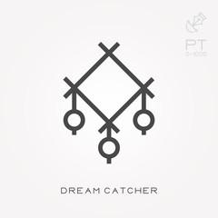 Line icon dream catcher