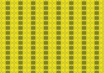 Yellow green shapes and textile pattern and background