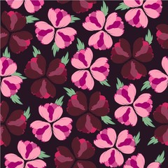 Floral seamless pattern. Vector background with flowers. Cute floral pattern for textiles, Wallpaper, packaging.