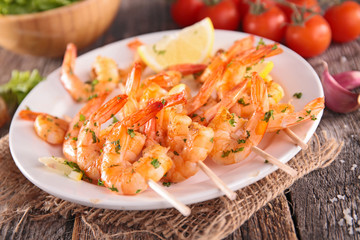 fried shrimp with herb