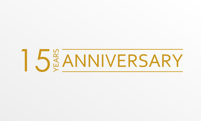 15 years anniversary icon. Anniversary decoration template. Vector illustration.