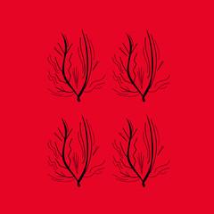 Design seaweeds  red black jpg