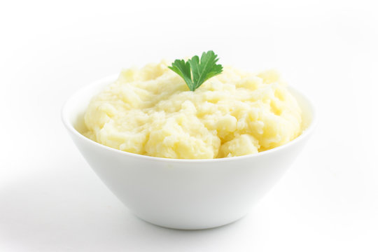 Potato puree or mashed potatoes in a bowl