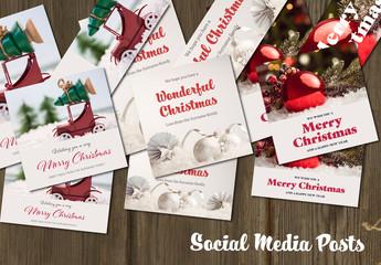 Set of Christmas Social Post Layouts 2