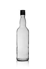 empty wine bottle with a lid isolated on a white background