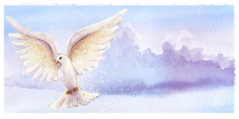 paloma volando en el cielo
