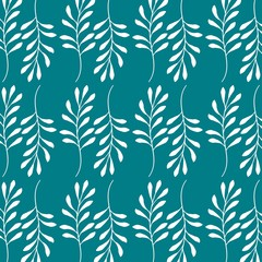 flower seamless pattern natural ornamental texture with flourish decoration
