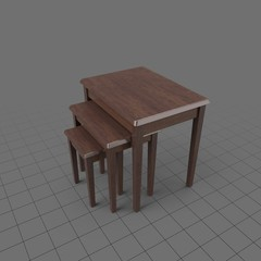 Wooden nesting tables