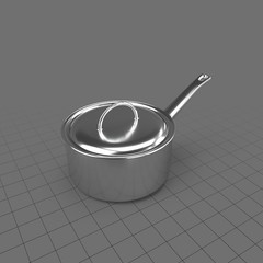 Silver saucepan with lid