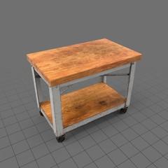 Wooden rollcart