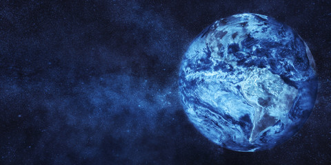Frozen Planet Earth. Global cooling concept. Some elements of image furnished by NASA