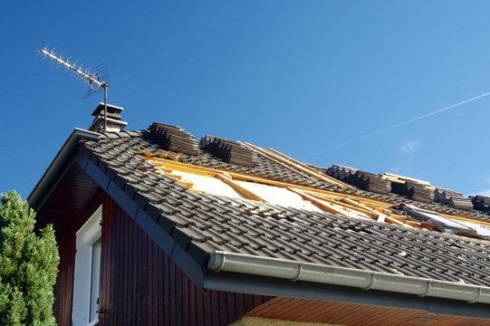 isolation d'une toiture de maison
