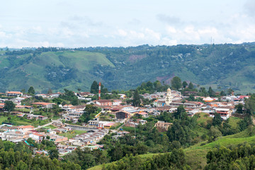Fototapete - View of Salento, Colombia