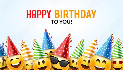 """Birthday Happy Smile Greeting Card. Vector Birthday"