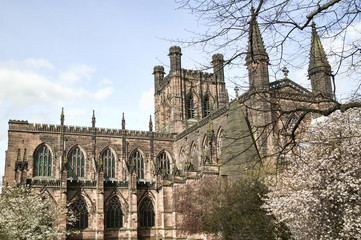 Chester Cathedral, England UK was founded  in 660AD in the heart of the city