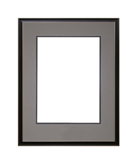 Black picture or photo frame with cardboard mat