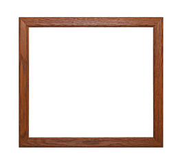 Simple wooden brown picture or photo frame