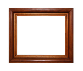 Massive wooden brown picture or photo frame