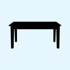 table vector illustration isolated on ligth blue background. Table icon. EPS