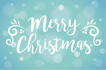 Merry Christmas Soft Focus Snow Vector Illustration 1