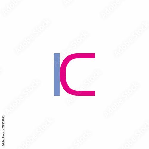 Letter K Or Ic Letter Logo Stockfotos Und Lizenzfreie