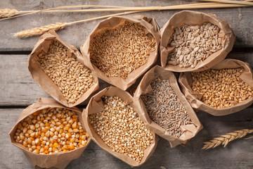 Grains in Paper Bags