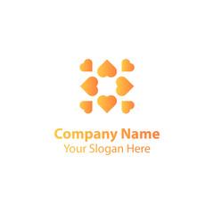 abstract love logo design