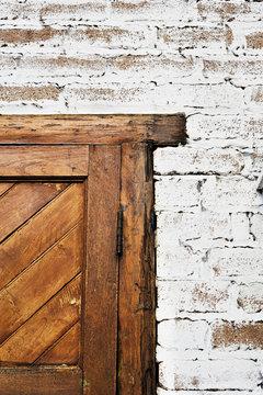 door frame in brick wall