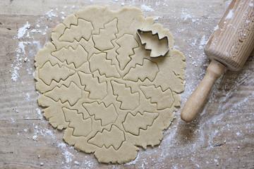 Food: Raw christmas tree cookies