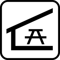 Tourist tent vector illustration. Camping shelter icon.