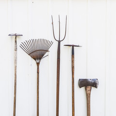 Collection of Old Lawn and Garden Tools