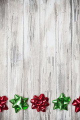 Holidays: Red and Green Ribbon Border Background
