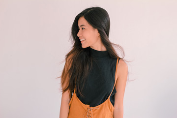 A fashion portrait of young asian woman