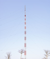 Antenna tower under blue sky