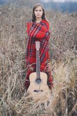 Autumn Girl With Guitar