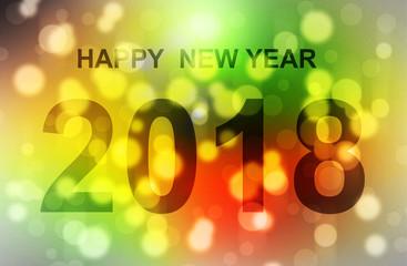 Boken light happy new year 2018.