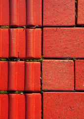 red brick background