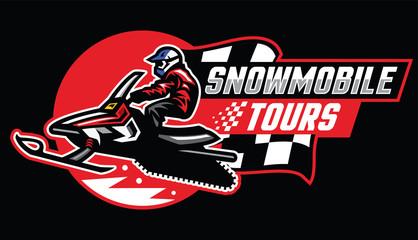 snowmobile tour badge design