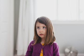 Busted: a child's expression while being disciplined