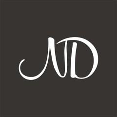 ND logo letter design template vector