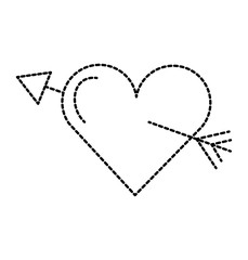 amour symbol with heart and arrow icon
