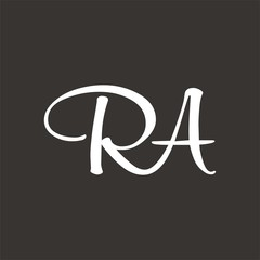 RA logo letter design template vector