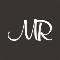 MR logo letter design template vector