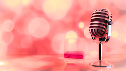 microphone and booze of glass