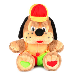 Merry doggy ?hildren soft toy on white background