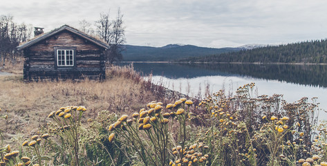 old cabin in the north of Sweden