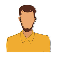 man bearded avatar portrait icon image vector illustration design
