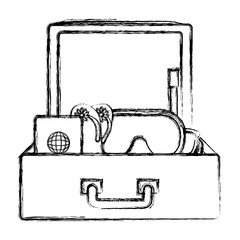 suitcase travel with elements