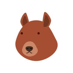 cartoon squirrel icon